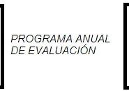 PROGRAMA ANUAL DE EVALUACION